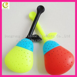 Made in China high quality eco-friendly silicone loose leaf tea infuser,OEM shaped silicone tea parts