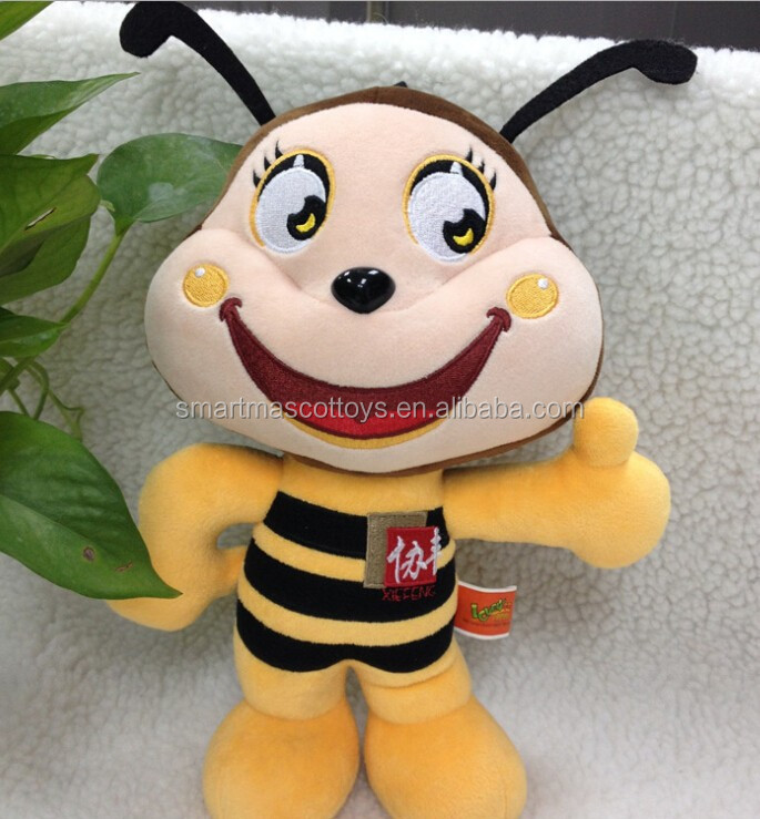 professional customized animal soft plush toys bee plush stuffed toys