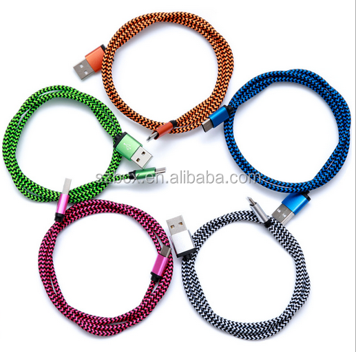 High speed braided USB 3.1 Type C to Type A usb cable for MAC