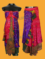 Wholesale saree wrap skirts / Wrap Maxi Dress /Magic Wrap Skirts Online