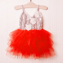 2017 flower tutu strapless dashiki kids girls dress