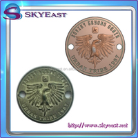 3D Relief Or Engraved Metal Eagle Logo Sew On Nameplates