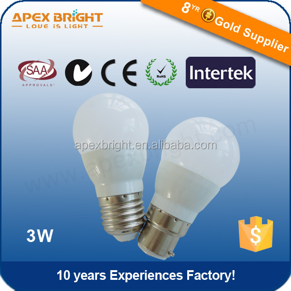 hot sale smd 2835 g45 led bulb e27 e14 3.5w 220