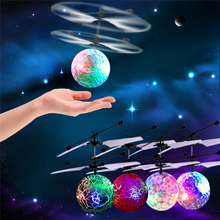 Flying Kids Children RC Ball Aircraft Helicopter D Led Flashing Light Up Toy Induction Toy Electric Toy Drone
