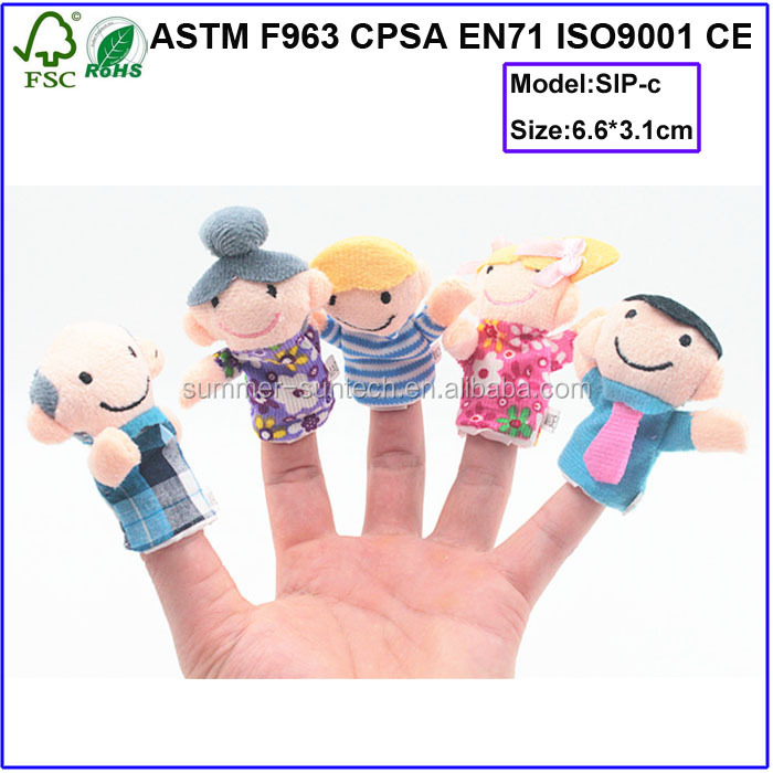 stuffed puppets/puppet animal finger toys