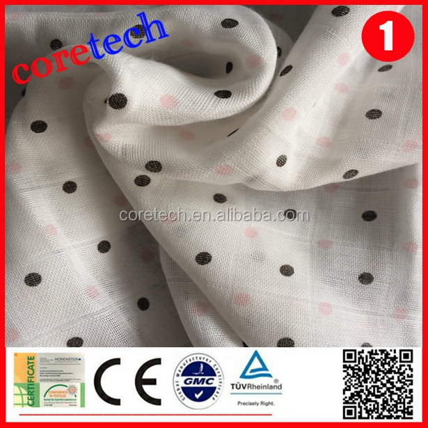 Full size double washable bamboo muslin fabric factory