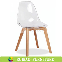 Alibaba Home Bar Cafe Furniture All PC Solid Plastic Dining Chair Without Arm