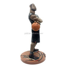 Custom made NBA basketball player plastic action figure toys