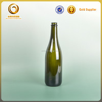 Superior quality 750ml red glass wine drinking bottle for sale