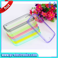 cheap tpu pc case for samsung galaxy s4 i9500 with anti dust plug