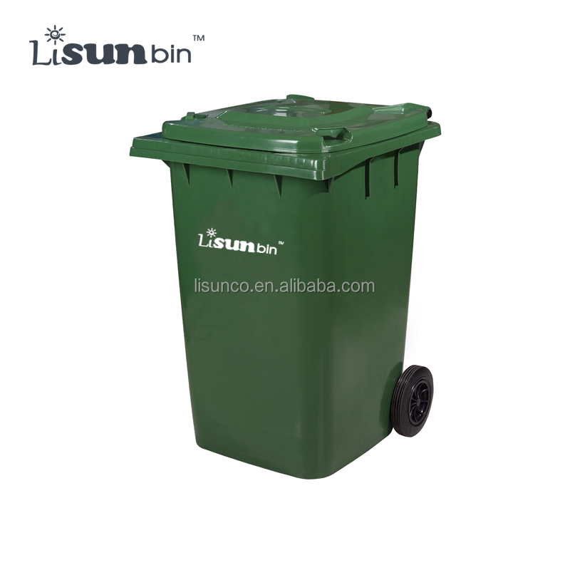 silk screen printing large plastic dustbin cheap price with wheels