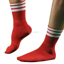 custom Football boy Sport crew 100%nylon red men Baseball socks