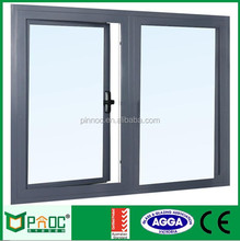 Used aluminum casement windows/Chain winder hinged window,,swing and hinged windows PNOC00018CAW