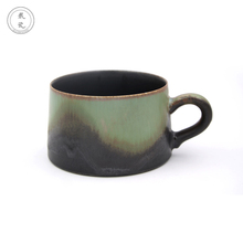2018 New personalized tea cups saucers with green glaze for Valentine's Day gift wholesale