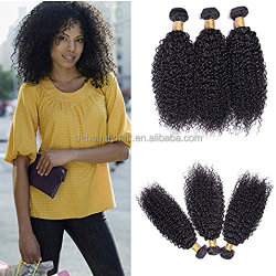 Brazilian Virgin Hair kinky curly Hair Weave 3 Bundles 300g Unprocessed Loose Deep Wave Virgin Human Hair Weave Natural Black