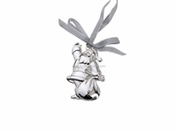2016 hot sell Silver Plated with lacquer Santa Claus ornament