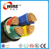 4 core solid Power Cable VV, VLV pvc cable 4x6mm2 low voltage