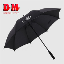 New promotion customized windproof double layer rain EVA handle golf umbrella parts with logo printing