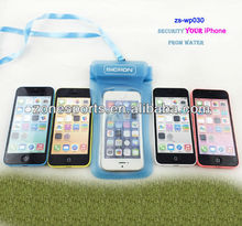 wholesale new fashion smartphone waterproof bag for iphone5 waterproof pouches for mobile phones