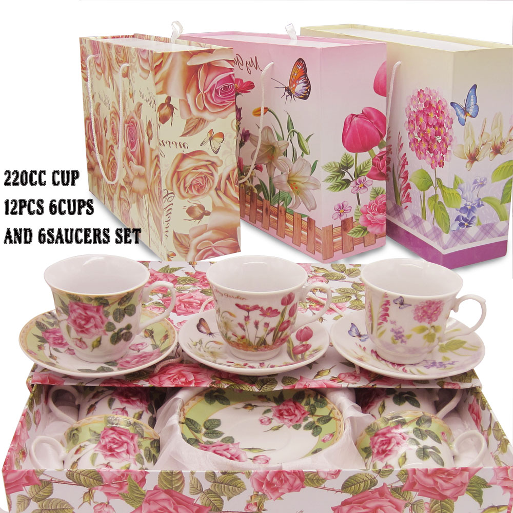 220ml Ceramic Classic European Style Coffee Cup Tea Cup Sets