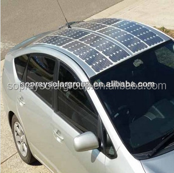 High efficiency marine flexible solar panel 120w for car, ship and curved roofs