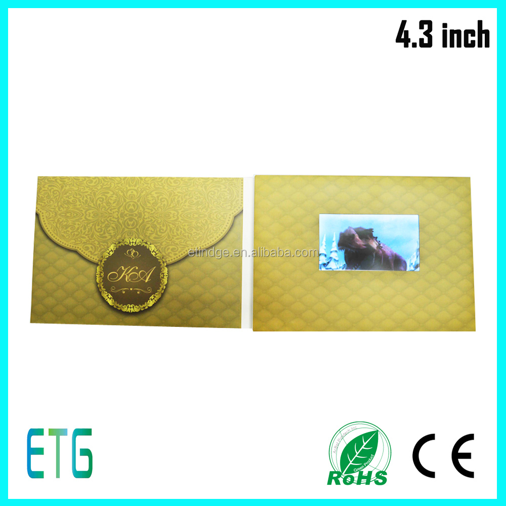 Supplier TOP quality embossing7 inch LCD TFT video card Mp4 video displayer video