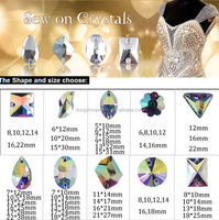 crystal ab sew on stone sewing beads for fashion dress garment clothing