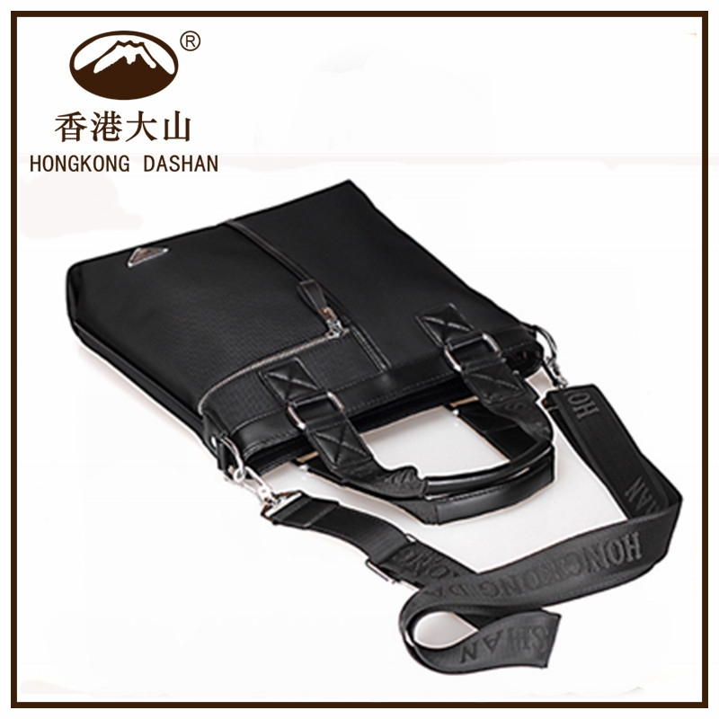 DS6800-30 Small Custom New Black China Factory Nylon Waterproof Men's Handbag With Shoulder Strap