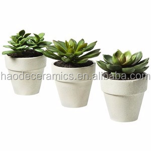 [ ZIBO HAODE CERAMICS]manufacturer supply ECO-friendly glazed small indoor white ceramic flower pot