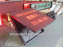 red color stand up led light up message board/giant led screen