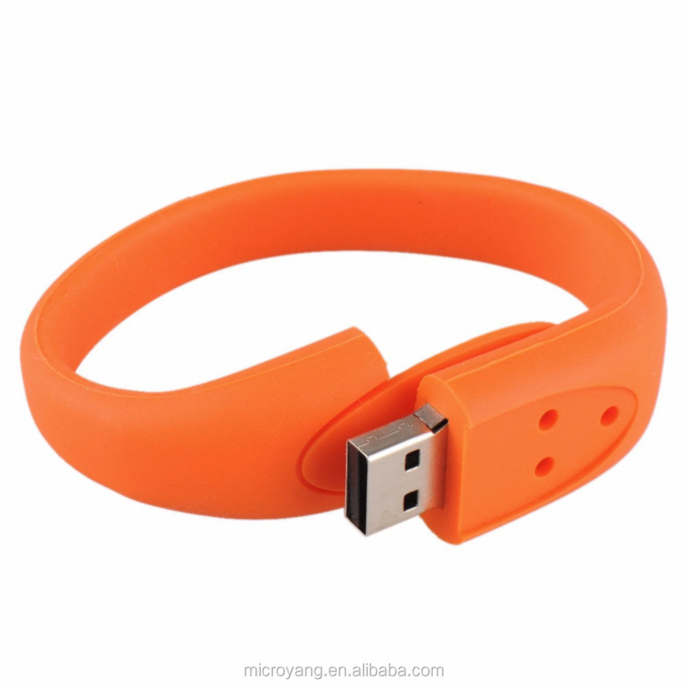 Wholesale 8GB Rubber Wristband Silicone Bracelet Usb 2.0 Memory Stick Flash Pen Drive
