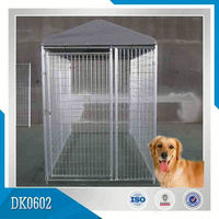 New Style Galvanized Dog Kennel With Top Cover Reasonable Price And Good Quality