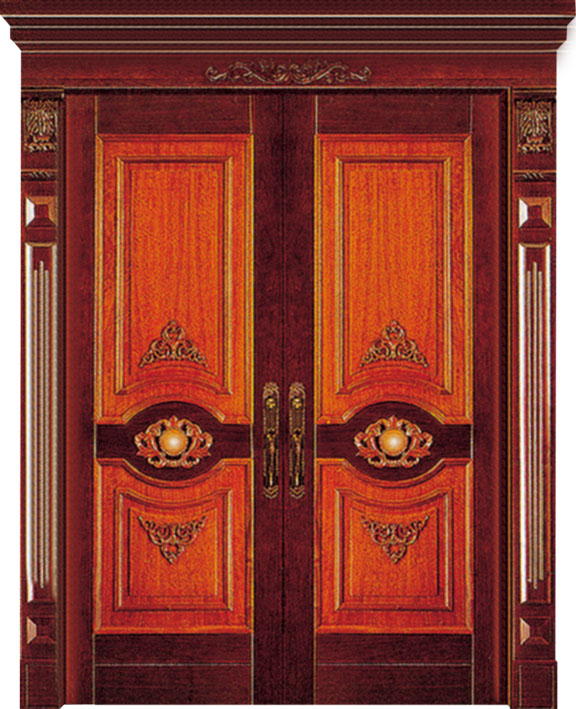 Luxury Thai Oak Solid Wood Exterior Main Door