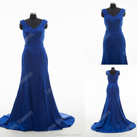 RP0167 Sexy real aliexpress formal dress off shoulder mermaid floor length navy blue evening dress high quality alibaba dresses