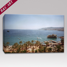 Nature Wall Painting Designs Seaside Cityscape Scenery Art Picture For Home Wall Decoration