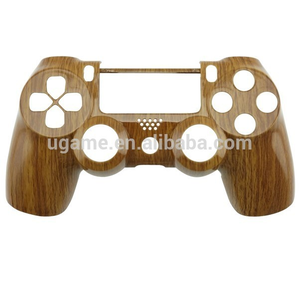 Housing Shell Cover Replacement Wood Strain for PS4 Controller