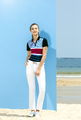 2017 new ladies' printing golf shirt quick dry sport polo