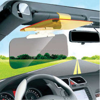 hot sale great quality 2 in 1 easy view day and night automobile anti glare sun shield hd vision visor for car