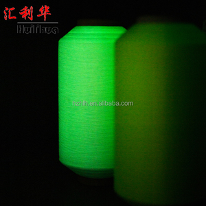 High Lighting Top Quality Luminous Polyester Yarn / Glow In The Dark Yarn