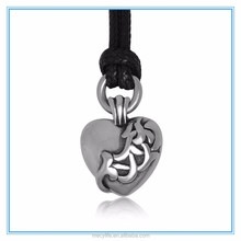 MECYLIFE casting puffy heart stainless steel men's heart pendant