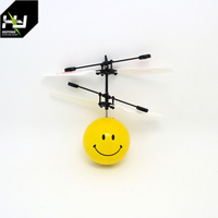 Huiying 2017 Flying toy for sale Infrared Induction flying ball mini helicopter toy with led lights the best of 2017 toy
