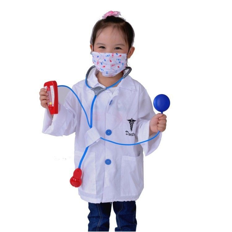 7000967-Cute Doctor Uniform Children Cosplay Halloween costumes Doctor suits Kid Party Costume Outfit