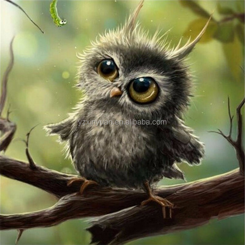 3D Diamond Painting Cross Stitch Pattern 5D Diamond Embroidery Owl Mosaic Resin Full Drill Home Decor DIY Painting 30*30cm