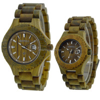 Nice trendy lover wood watch his and hers designer wooden watches