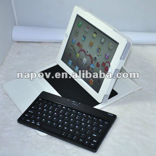 Wireless bluetooth keyboard leather case for ipad1 ipad2 ipad 3