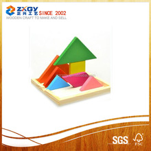 Educational Colorful Wooden Training Geometry Tangram Puzzle Toy