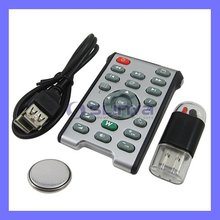 Wireless IR USB Multimedia Computer/ PC Remote Control - Silver