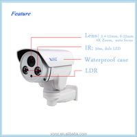 New arrival 4.0mp 4x zoom h.264 pan tilt zoom mini wifi camera