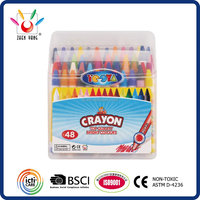48 COLOR CRAYON SIZED 8X90MM PACKED IN COLOR BOX