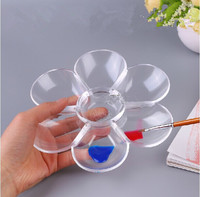 promotional flower shape clear plastic art palette from linyi,China